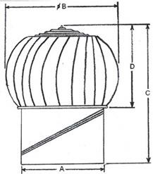 Svs Turbo Ventilators Roof Turbo Ventilators